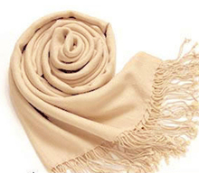 MUQGEW Popular Pashmina Cashmere Silk Solid Shawl Wrap Women's Girls Ladies Scarf Accessories Attractive Neckerchief Tippet(China)