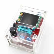 Multifunctional Tester GM328 Transistor Tester Diode Capacitance ESR Meter PWM Square Wave Signal Generator with case