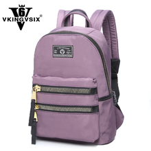 2017 Fashion Girl school bag Black/Purple backpack for women 14~15.6 laptop backpack Travel bags for teenagers Rucksack mochila