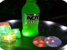 500pcs/lot Free Shipping LED Flashing Bottle Coaster Sticker For Wedding Drinks/Glasses Night Club Party Decoration(China)