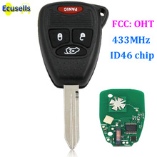 Remote Key Fob 3+1 Button 433MHZ +Chip ID46 for Chrysler/Dodge/Jeep FCC: OHT(China)