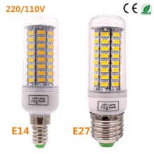 led lighting lamp Lowest Price spotlight  led corn bulb  lamp E27 E14 SMD5730 220V 72LED Warm white /white