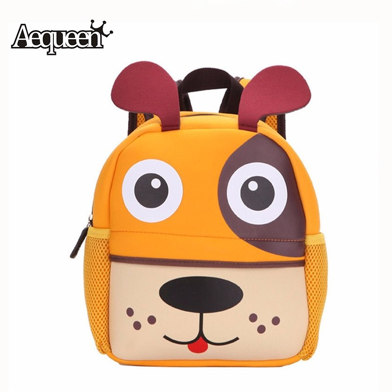 New 3D Cute Animal Design Backpack Kids School Bags For Teenage Girls Boys Cartoon Dog Monkey Shaped Children Backpacks Big Size(China (Mainland))