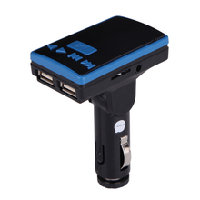 Newest Mini LCD Remote USB Bluetooth Car Kit MP3 Player MIC FM Transmitter Modulator Car Charger High Quality FM Transmitter