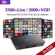 X92 Smart Android IPTV Set Top Box 3G+32G Octa Core STB with 3500+Live Channels HD IPTV Abaric Europe French Subscription 1 Year