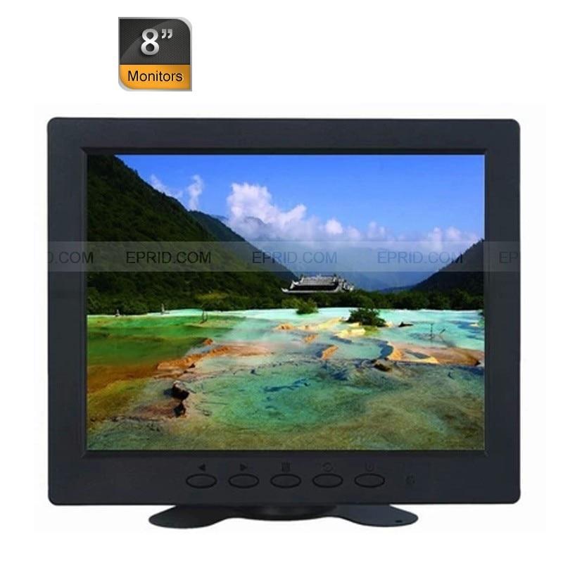 Portable 8 Color Car CCTV Security Monitor TFT LED LCD BNC VGA AV Port<br><br>Aliexpress