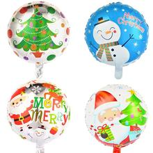 4pcs 18-Inch Merry Christmas Foil Balloon Lovely Printed Christmas Mylar Balloon For Merry Christmas Party Decoration
