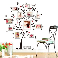 Diy photo frame Tree wall stickers home decor Design living room sofa vintage poster wall art decals home decoration(China)