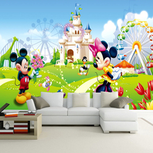 3D Wallpaper Stereo Cartoon Kid's Room Interior Decor Photo Mural Eco-friendly Fiber Decor Wall Coating 3D Colorful Wall Papers
