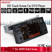 Factory Price 1 Din Car radio for BMW/E46 M3 car DVD screen e46  With GPS Bluetooth Radio RDS USB IPOD Steering wheel