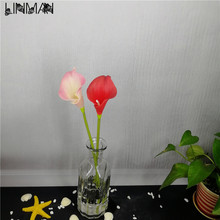 Calla artificial flowers silk flower decorative flowers living room The restaurant wholesale manufacturers 5 pieces(China)