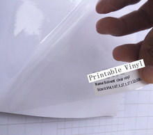 Solvent Printable Transparent Glue Self Adhesive Vinyl Ink Paintable Film Use on printer Size 1.52x 50Meter/Roll