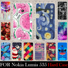 For Microsoft Nokia Lumia 535 case Hard Plastic Cellphone Mask Case Protective Cover Housing Skin Shippin g Free