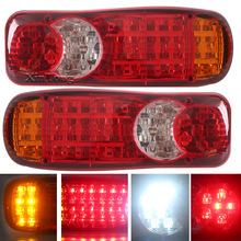 2Pcs 12 24V Automobile Car Truck LED Stop Rear Tail Indicator Fog Lights Reverse Van Car Styling High Quality LED Lamps Hot Sale(China)