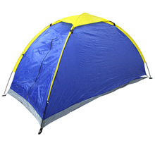 Waterproof Two Persons Camping Tent Single Layer Tent Beach Tent Outdoor UV-protection Tent with Carry Bag for Hiking Travel