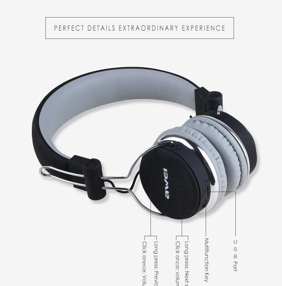 Awei A700BL Wireless Bluetooth Stereo Over Ear Headphones 5