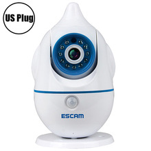ESCAM Penguin QF521 Wireless WiFi Baby Monitor 1.0MP Support Two-way Audio Pan/Tilt Rotation IP Camera(China)