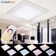 Floureon 30-42W LED Ceiling Light 29.4inch Crystal LED Flush Mount Ceiling Light RGB Color Change Elegant & Charming 53*53*10cm(China)