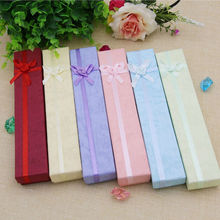 YouMap Fashion Colorful Paper Long With Bowknot Pendent Necklace Jewelry Box Gift Package X7R2C