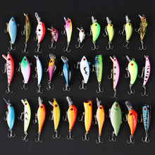 30pcs/lot Fishing Lures set 30 colors fishing bait Crankbaits Mixed Size fishing tackle Minnow Lures/Popper Lures/Crank Lures
