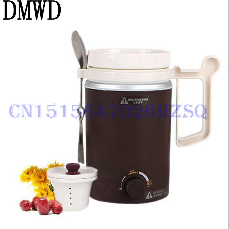 DMWD 90W Household Electric Heating cup ceramic liner Mini Multifunctional Health cup for porridge/heating milk/stewing  <br>