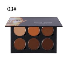 Hot sale 6 Colors Highlight Contour Palette Light to Medium 3D Contouring Makeup Corrector Concealer Cream Make Up Cosmetics(China)
