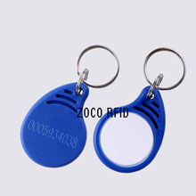 12# 100pcs/lot Rfid Tag 125Khz Proximity RFID Card Keyfobs Access Control Smart Card Blue&white(China)