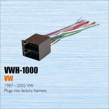 Plugs Into Factory Harness For VW 1987~2002 - Radio Power Wire Adapter / Aftermarket Stereo Cable / Male DIN To ISO