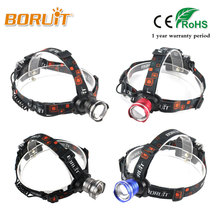 BORUIT 2000LM 3 Modes XM-L T6 LED Headlight Zoomable Torch White Light Head Lamp For Camping Hunting Fishing Four Color Headlamp(China)