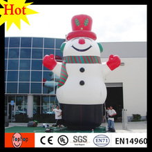 high 5m 16.5ft  giant halloween inflatables christmas decor snow man with boots 420D Oxford