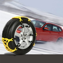 1 kit 6pcs Universal Auto Car Snow Anti-skid Chains Winter Snow Chains Vehicles Wheel Antiskid Non-slipping Tire(China)