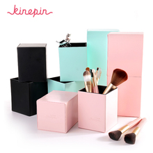 KINEPIN Makeup Brushes Holder Magnetic Make Up Brush Pen Holder Cosmetic Tool Organizer Empty Portable PU Leather Container
