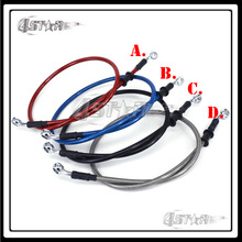 Universal 1000-2000mm Braided Steel Hydraulic Reinforce Brake line Clutch Oil Hose Tube Fit Motorcycle ATV Dirt Bike Racing MX