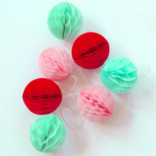 5cm Lot of 100 Wholesale Tissue Paper Honeycomb Balls Mini Hanging Balls Party Wedding Decoration Home Birthday Baby Shower