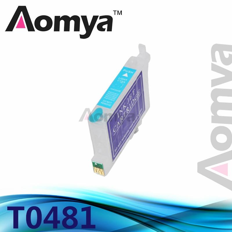 1pcs Light Cyan T0485 Empty Refillable Ink Cartridge For Epson Stylus Photo R200,R220,R300,R300M,R320,R340,RX500,RX600,RX620<br><br>Aliexpress
