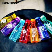 GENNISSY BPA Free 550ml Candy Color Plastic Portable My Water Bottle Tour Sport Lemon Juice Kettle Drinkware High Quality