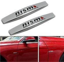 2016 Hot 2PC 3D for Nissan nismo Metal Car Fender Sticker Decal Chrome Badges Emblem free shipping