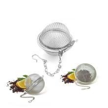 7cm Large Stainless Steel Tea Ball Strainer Reusable Loose Leaf Mesh Infuser Herbal Spice Sphere Filter for Kettles