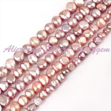 "Natural Freshwater Pearl Purple Freeform Beads Strand 14"" 3-4,5-7mm For DIY Necklace Bracelet Jewelry Making,Free Shipping"