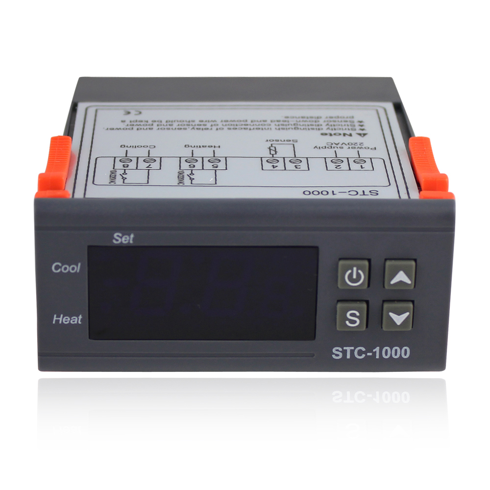 220V All-Purpose Temperature Controller + Sensor 2 Relay Output Thermostat STC-1000<br><br>Aliexpress