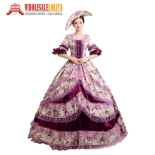 Women's Prom Gothic Victorian Fancy Palace Masquerade Dresses Brocade Ball Gown Dress Reenactment Halloween Costume