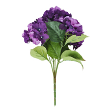 "FJS!Artificial Hydrangea Flower 5 Big Heads Bouquet (Diameter 7"" each head) Purple"