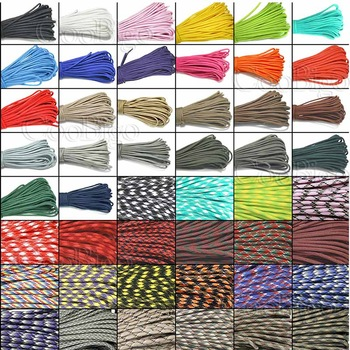 Paracord 550 Parachute Rope 7 Core Strand 100FT 50FT 20FT 10FT Buckle Bracelet 54 Color Pick Glow in the Dark Reflective #S0021