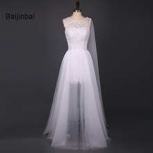 Buy Baijinbai New Style Vintage Women Lace White Wedding Dresses 2018 Vestido De Noiva Scoop Beautiful Bridal Party Dress Custom521 for $83.85 in AliExpress store