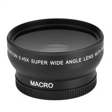 0.45X 52mm Wide Angle Lens with Macro for Nikon Coolpix D40/ D60/ D70s/ D3000/ D3100/ D5000 for Sony DSLR Camera Universal(China)
