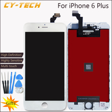 AAAA High Quality Definition No Dead Pixel Display For iPhone 6 Plus LCD Touch Screen With Digitizer Replacement Black White