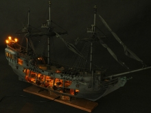 NIDALE model ZHL all-scenario version of the black pearl ship model kits (English detailed manuals)(China)