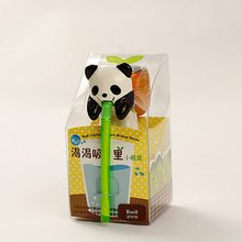 Indoor Office Home Garden Self Watering Flowerpot Cute Animal Pot With Straw (Panda(Basil))(China)