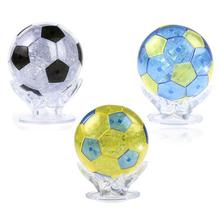 77pcs/set Crystal 3D Jigsaw Puzzle Crystal Puzzle Football World Cup Souvenirs For Home Decoration Creative Gift