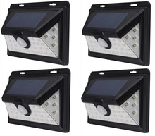 34 LED solar lighting 4 pcs IP65 Wide Angle Security Motion Sensor Light with 3 Modes Motion Activated for outdoor Garden